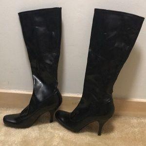 Nine West Black stiletto high heel boots!